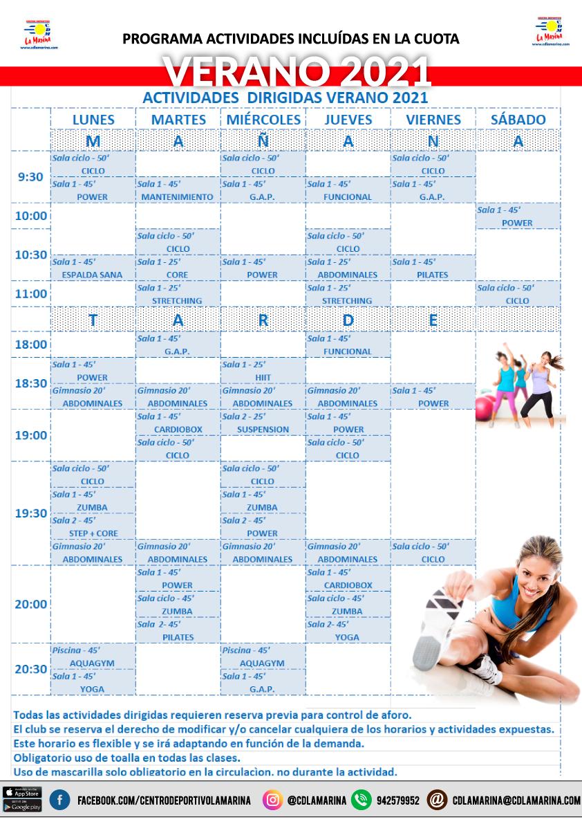 Nuevo horario de actividades desde el 31 de Mayo